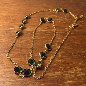 J. Crew green necklace